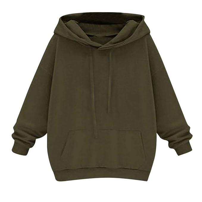5f9992ebba4a HWTOP ☺Sweatshirts Hoodies Damen Oberteil Hemd Pullover Locker Sport  Freizeit Premium Kleidung mit Kapuzen Cropped Kapuzenpullover Langarmshirt  Bluse mit ...