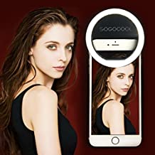 Rechargeable Portable Selfie Diva Ring Light for iPhone Android Phone Camera (USB Charging)