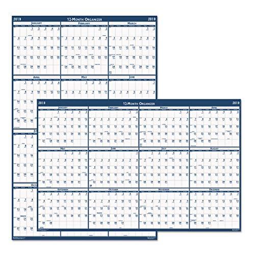 (Bulk 2019 Vertical/Horizontal Laminated Calendars: HOD3962 (12 Wall Calendars))