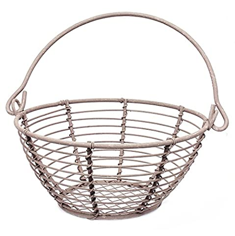 The Country House Collection 5'' D Round Wire Basket