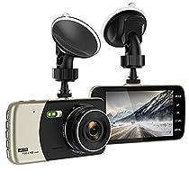 """Dash Cam, 4.0"""" 1080P Full HD Telecamera, con 170° Grandangolare, G-Sensor, Monitoraggio del Parcheggio, Registrazione in loop"""