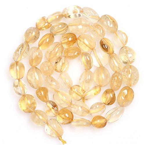 (Citrine Beads for Jewelry Making Natural Gemstone Semi Precious 6x8mm Freeform Potato Shape 15