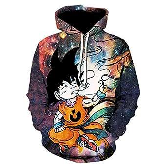 RJHWY Unisex 3D Sudaderas con Capucha Jersey Ropa Abrigo Chaqueta con Dragon Ball Son Goku Capucha Sudadera: Amazon.es: Ropa y accesorios