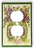 3dRose lsp_172715_6 Image Of Little Purple Flowers Making A Bike Design And Xmas Greeting - 2 Plug Outlet Cover