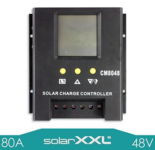 80A Laderegler-PWM 48V für Solarpanele automatische Erkennung LCD Anzeige - SolarXXL
