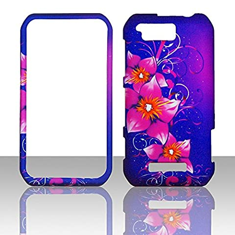 2D Mystical Flowers Motorola Photon Q LTE XT897 Sprint Case Cover Phone Snap on Cover Case (Motorola Phone Q)