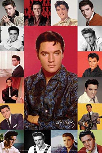 (Elvis Presley Portrait Composite Music Poster 12x18 inch)