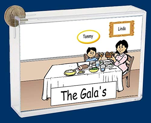 Personalized NTT Cartoon Side Slide Frame Gift: Family Dinner Single Mom 1 boy Gift, Family Gift, Single mom