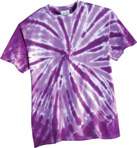Port & Company Mens Essential Tie-Dye Tee PC147 -Purple 4XL -