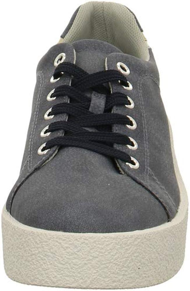ESPRIT Damen Crepe Blauer Synthetik Sneaker Ink