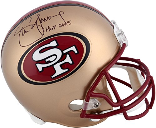 Steve Young San Francisco 49ers Autographed Replica Helmet with HOF 2005 Inscription (San Francisco 49ers Collectible Replica)