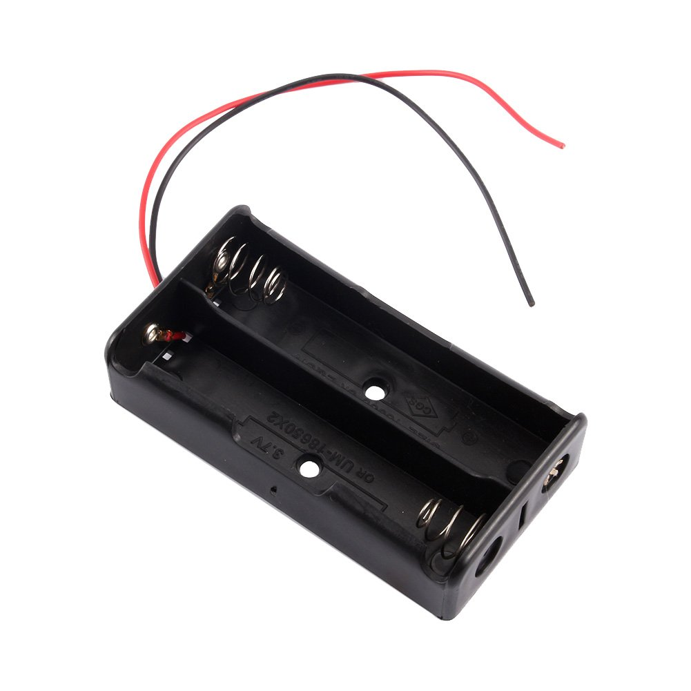 Zerone 3,7/V 18650/Akku-Halter 2/Viel Akku Halter Kunststoff Fall Aufbewahrungsbox mit Draht f/ührt