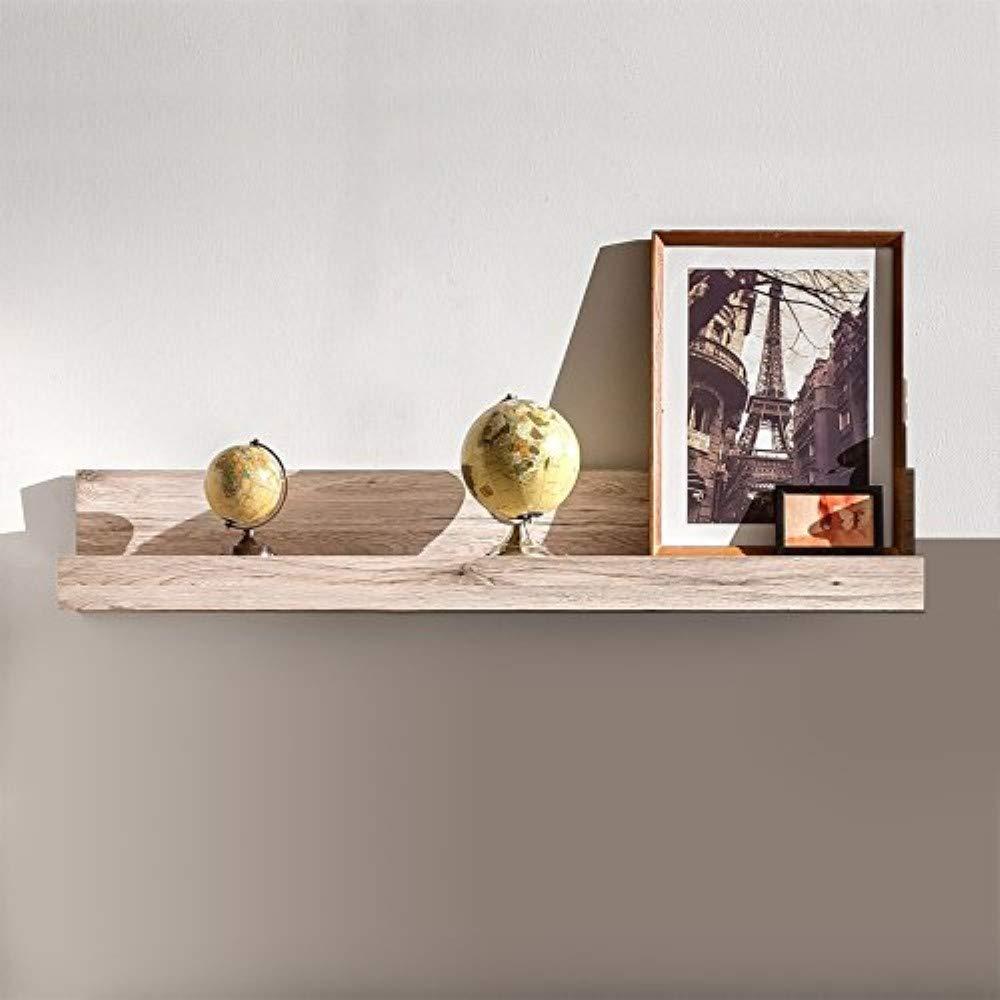 Trendteam Wohnzimmer Wohnzimmer Wohnzimmer Wandregal Bücherleiste Bücherregal Passat, 115 x 18 x 23 cm in Eiche San Remo Sand Dekor mit Ablagefläche 1788d9