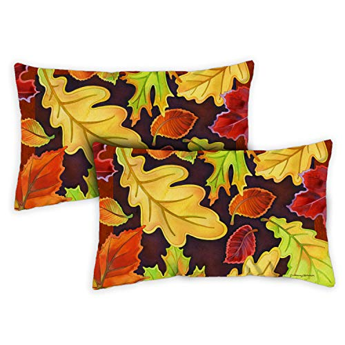 Toland Home Garden Leafy Leaves 12 x 19 Inch Indoor, Pillow, Case (2-Pack) from Toland Home Garden