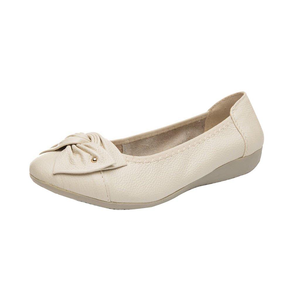 OCHENTA Beige Femme Confortable Ballerines Confortable Chaussures de Travail Mocassins Mocassins Femme Semelle Epaisse Beige f0f1363 - conorscully.space