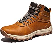 Veool Mens Snow Boots Outdoor Hiking Waterproof Fashion Sneakers Winter Warm Shoes