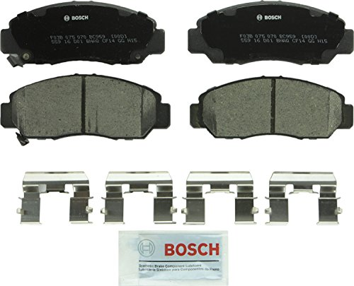 Bosch BC959 QuietCast Premium Ceramic Disc Brake Pad Set For: Acura CSX; Honda Accord, Civic, Front