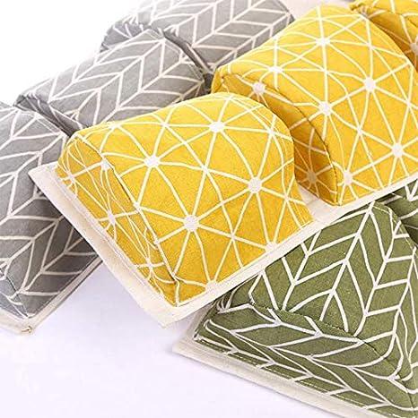 Green 68 x 20 cm Tissu pour armoire En tissu 1/pi/èce Fansi Sac de rangement /à suspendre En coton 1/poche de rangement trois niveaux Sac de rangement mural