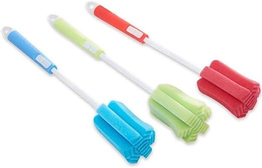 10 stücke Baby Babyflasche Straw Waschbürste Edelstahl Spiralreiniger ST