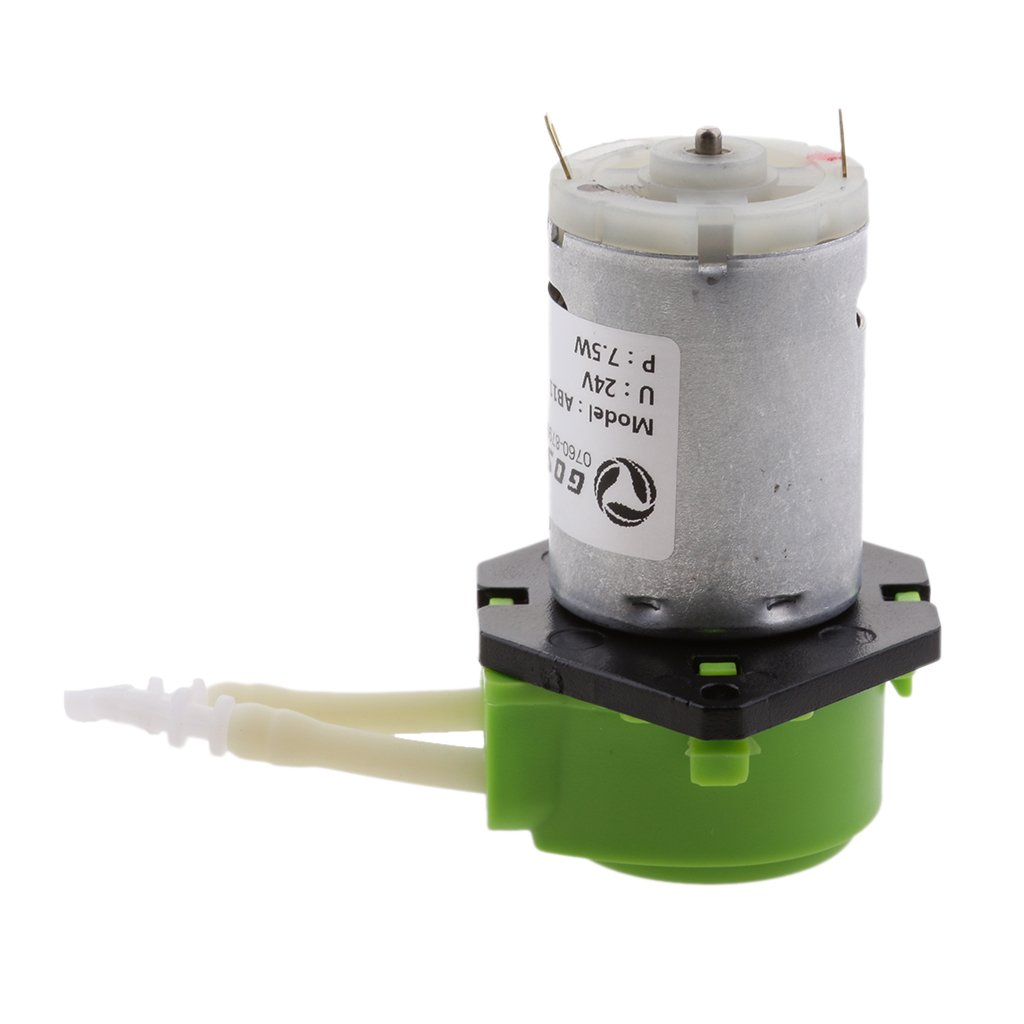 MagiDeal DC 24V Lab Dosing Pump Peristaltic Head Hose Connector Water Liquid 0~100ml/min for Chemical, Experiment,Food, Lab Water - green, as described