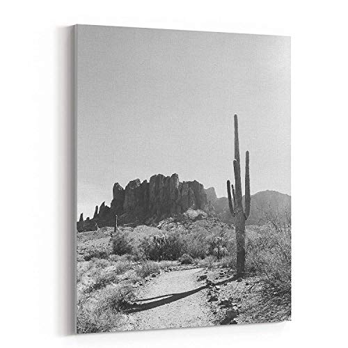 (wonbye Modern Artwork Giclee Canvas Prints - Superstition Southwest Cactus Camp - Pictures on Canvas Wall Art for Living Room Bedroom Home Decorations, 12 x 15 in )
