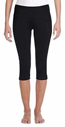 Amazon.com: Bella   Canvas Ladies' Cotton/Spandex Capri Fit ...