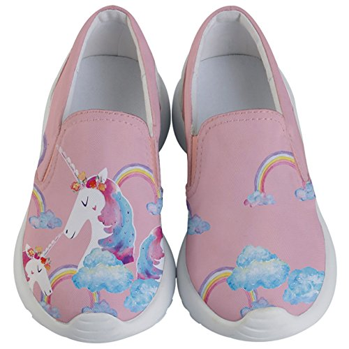 PattyCandy Girls Unicorn & Rainbows Kids Lightweight Casual Shoes - US 13.5C -