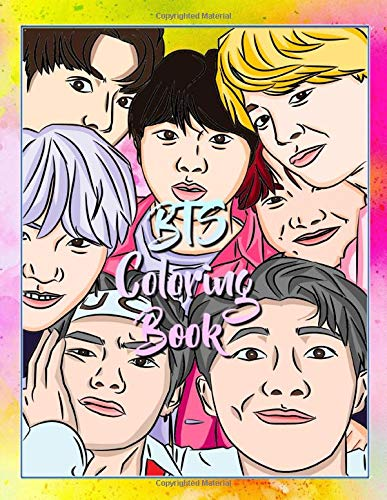 Bts Coloring Book Amazing Coloring Book For Armys And Bts Lovers Big Coloring Pages For Relaxation And Stress Relief Army Bts Lover 9798639094101 Amazon Com Books