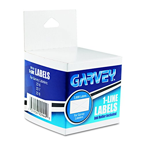 Garvey One-Line Pricemarker Labels, 7/16 x 13/16 Inches, White, 1200/Roll, 3 Rolls/Box (090944) Photo #2