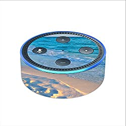 Skin Decal Vinyl Wrap for Amazon Echo Dot 2 (2nd generation) / Beach white sands blue water