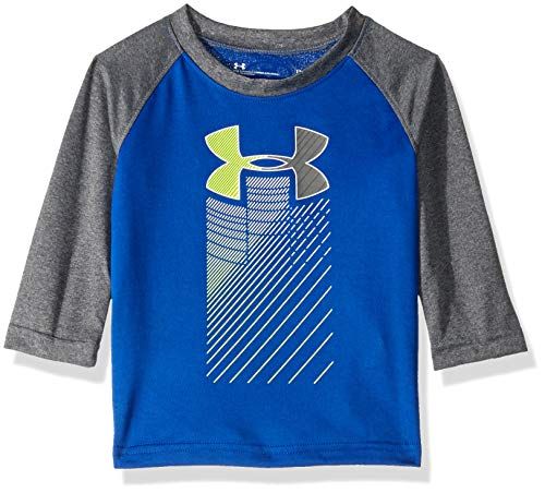 - Under Armour Baby Boys Long Sleeve Raglan Graphic Tee, Royal Rising, 18 Months