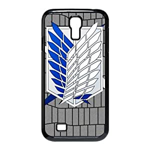 Hot Anime Series&Attack On Titan Background Case Cover for SamSung Galaxy S4 I9500- Personalized Hard Cell Phone Back Protective Case Shell-Perfect as gift