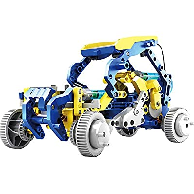 OWI - Dodeca 12-In-1 Solar Hydraulic Robot Kit | 12 Configuration Possible | Powered by the Sun | Great STEM Product: Toys & Games