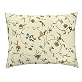 Chintz Floral Antique Embroidery Marie Antoinette Gypsophilia Cream Euro Knife Edge Pillow Sham Cecile Chintz ~ Gypsophila by Peacoquettedesigns 100% Cotton Sateen