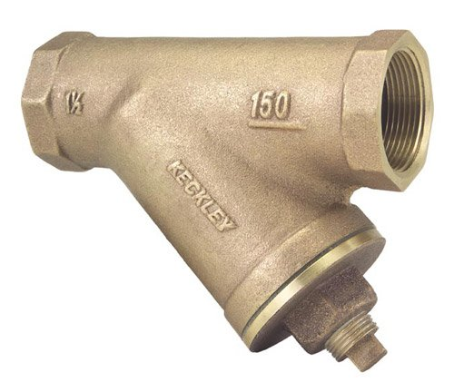 Keckley - 11/41THY-BCM20M34-FTI-F - 1-1/4 Y Strainer, Threaded, 20 Mesh, 5-5/16 Length, Bronze by Keckley Company