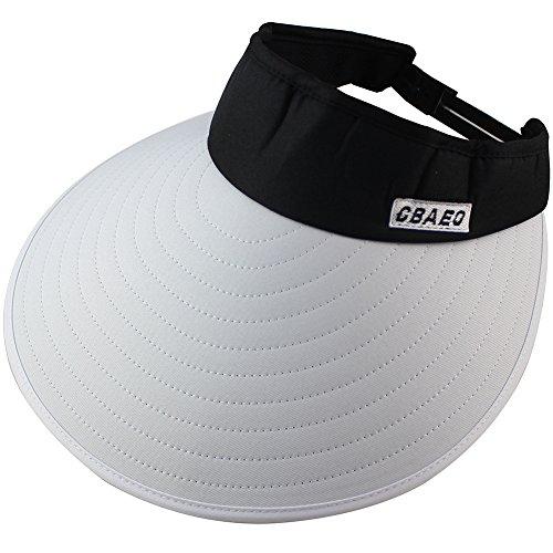 Sun Visor Hats Women 5.5'' Large Brim Summer UV Protection Beach Cap by CAMOLAND (Image #1)