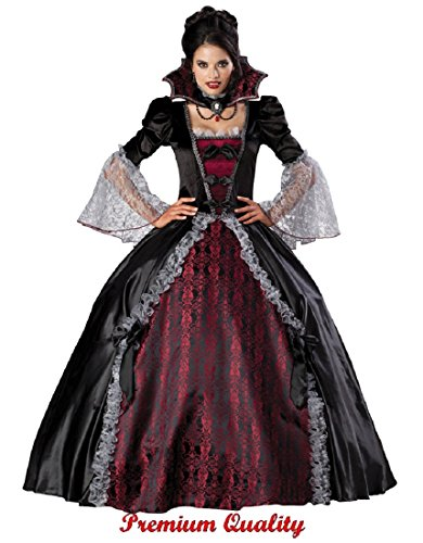 InCharacter Costumes Women's Vampiress Of Versailles Costume, Black/Burgundy, X-Large by Fun World