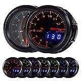 HOTSYSTEM Double Vision 7 Color Pyrometer Exhaust Gas Temperature EGT Gauge Kit 300 to 1300 Celsius Pointer & LED Digital Readouts 2-1 16