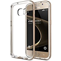 Galaxy S7 Case, VRS Design [Crystal Bumper][Shine Gold] - [Clear Cover][Military Grade Protection] For Samsung S7