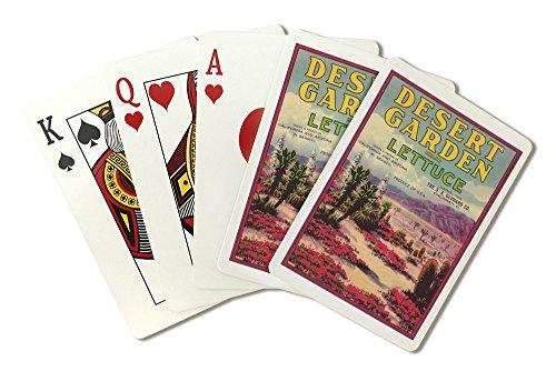 Desert Garden Lettuce Label (Playing Card Deck - 52 Card Poker Size with Jokers)