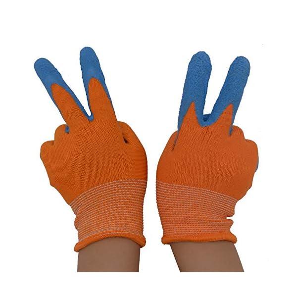 guanti da giardinaggi 2 x Paia di guanti da giardino per bambini da 2 a 13 anni