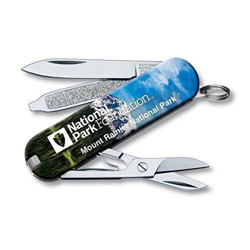 Victorinox Swiss Army Classic SD Pocket Knife, Mt. Rainier National Park
