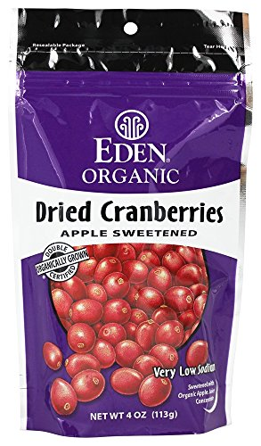 - Eden Foods - Organic Dried Cranberries Apple Sweetened - 4 oz (pack of 2)