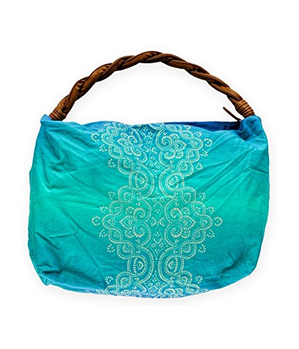 (Aeropostale Womens Braided Paisley Tote Handbag Purse, Blue, Small (17 in. - 22 in.))