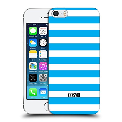 Official Cosmopolitan Sky Blue Stripes Collection Hard Back Case for Apple iPhone 5 / 5s / SE