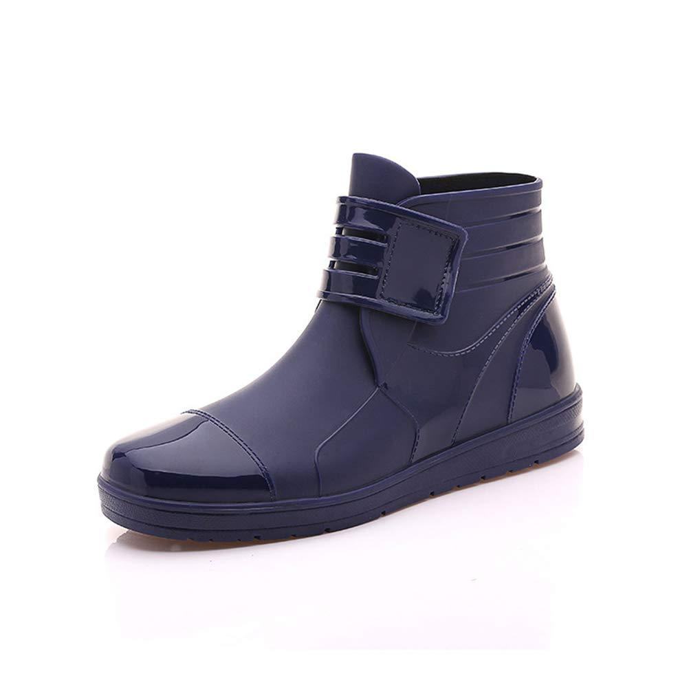 M/änner Frauen Regenstiefel PVC Uppers Wasserdichte Kn/öchelStiefel Unisex Wasser Flache Schuhe