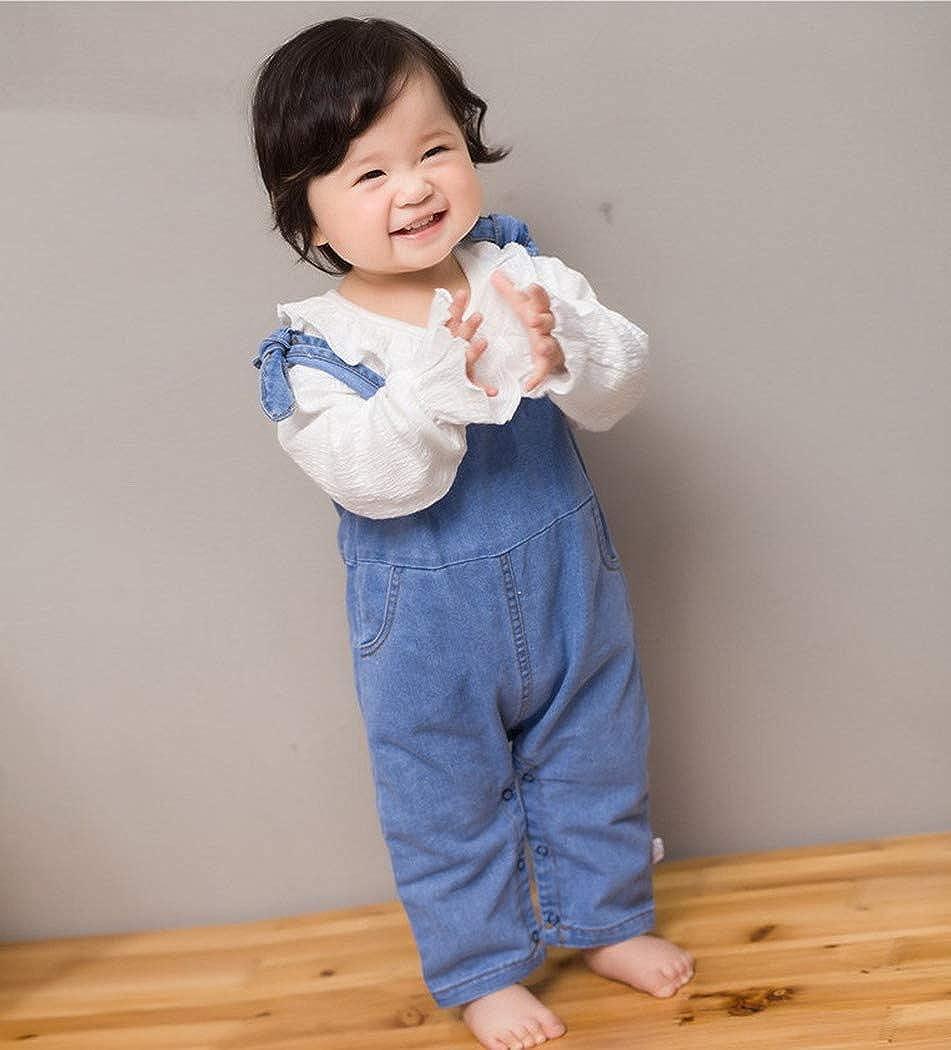 Premewish Latzhose Baby Kleinkind Jungen M/ädchen Jeanshose Baumwolle Tasche Jeans Hosen