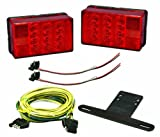 Wesbar 407560 LED Waterproof 4 in. x 6 in. Low Profile Tail Light Kit