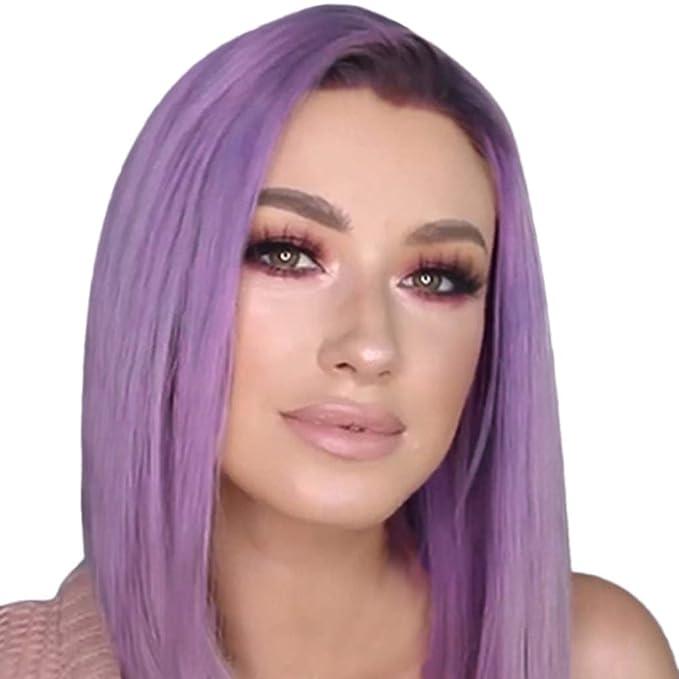 Kashyk Damenperücke Kurze Glatte Haare Halblange Perücke