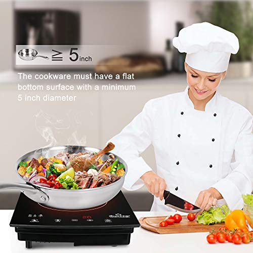 Duxtop Duxtop8310 1800W Portable Induction Cooktop Countertop Burner, Black by Duxtop (Image #2)